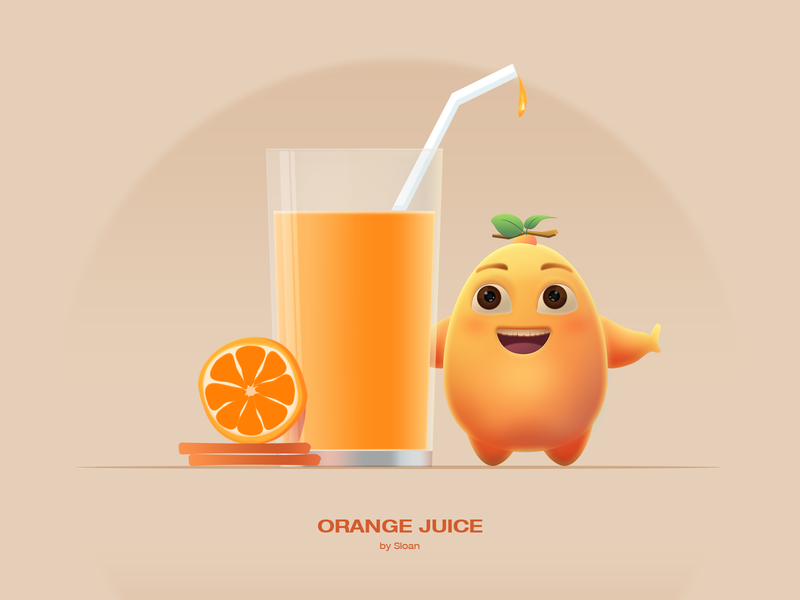 Orange Juice illustrations 插画 art illustration photoshop