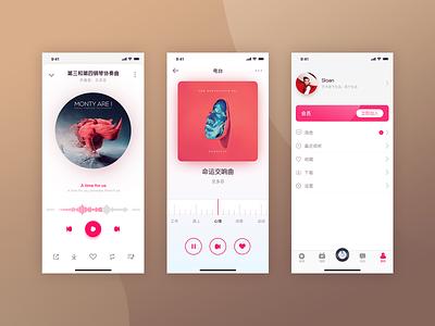 Classical art app design sketch art music ui
