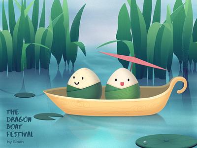 The Dragon Boat Festival 端午节 端午节 the dragon boat festival 插画 art illustration