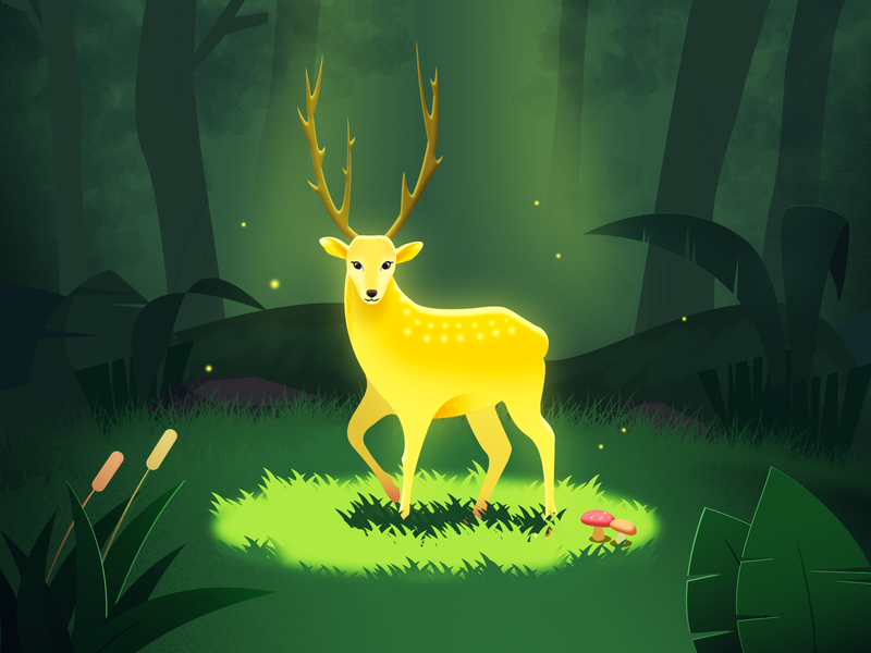 David's deer deer 插画 art illustration photoshop