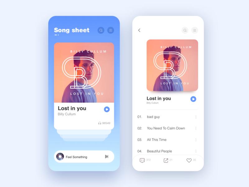 Page Design Exercises sketch app ui design music