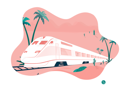 go home road,pink,green,illustration the train,home,on
