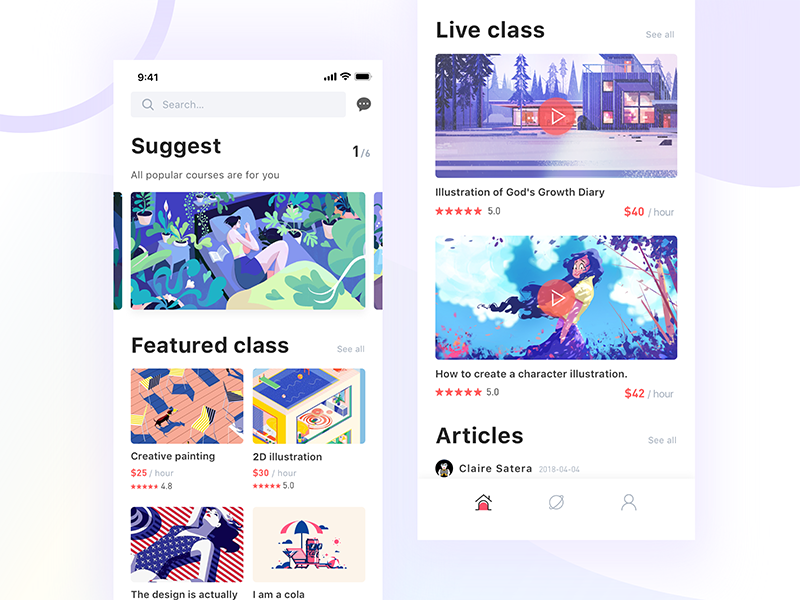 Online education project-01 ios11 illustrations course education