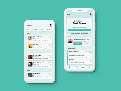 Visitor Management App Design skeumorphism mobileuidesign uidesign app mobile app design mobile app mobile uiux mobile ui flat web design minimal illustration ux ui