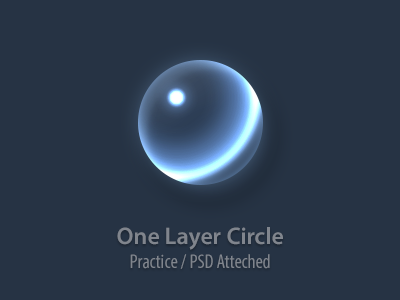 One Layer Circle [PSD] psd circle round bubble shine icon transparent