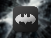 Does Batman Use iOS 7? icon flat simple black grey shadow ios ios7