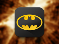 Batman Icon 2 icon ios ios7 ui gui batman flat simple black yellow shadow