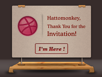 Thanks For The Invitation invitation ui