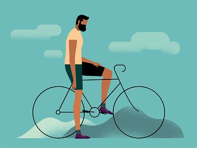 Shot #136 bicycle outdoor coreldraw minimalistic illustraion