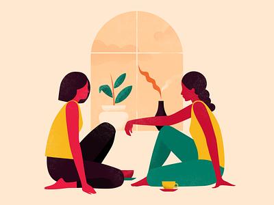 Gossip flatcolors illustration digital minimalistic