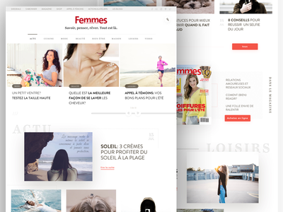 Women's magazine wordpress blog white beauty lifestyle fashion women girl girly feminine female magazine