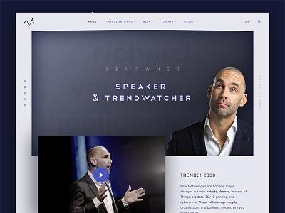 Futurist yet minimal personal website trendwatcher speaker trends minimal futurist