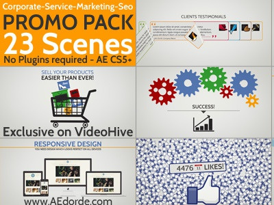 Corporacte Service Marketing Seo Promo Pack - AE project after effects videohive corporate social seo promotion