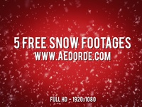 5 Free Snow Footages