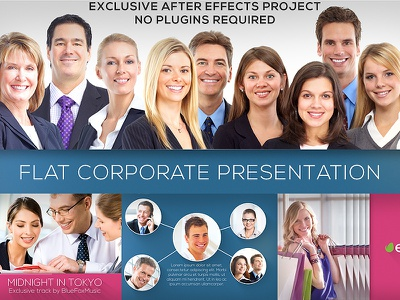 Flat Corporate Presentation 800x600 flat corporate after effects after effects project after effects template