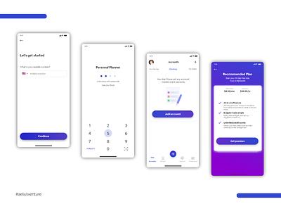 Personal Planner Account design mobile iphone aeliusventure ux illustration website app account phone ios android