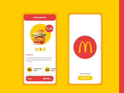 McDonald's Rephrase Redesign iphone branding illistration android mobile design clean application ui ux