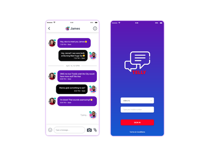 Telly Chat Application mobile app development mobile app design app chat android apple mobile uxui ux