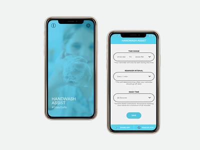 Reminder App - Design and Development reminder handwash illstration designer clean android mobile app development design covid19