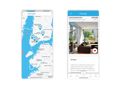Home Rent - Map Screens design android application mobile ux ui iphone map