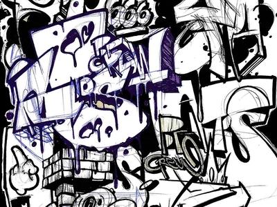 aaatttooosss lettering art letters art illustration graffiti graffiti art