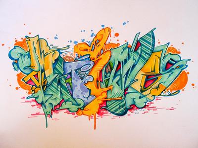 Gyal Letters art letters lettering art graffiti illustration graffiti art
