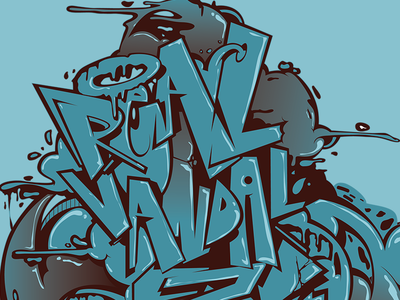 Real Vandal 3 Anos letters design graffiti digital vector digitalart graffiti illustration graffiti art