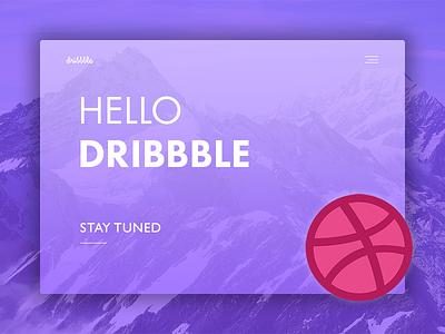 Hello Dribbble! debut dribbble creative ux ui design web website webdesign