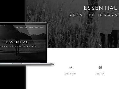 Essential - Theme Preview envato themeforest wordpress theme template creative design web website webdesign