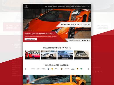 Car Rental Website Concept ux ui rental car template concept design web website webdesign