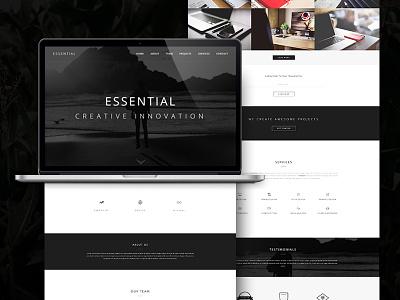Essential - Responsive Minimal One Page WordPress Theme envato themeforest blog portfolio responsive onepage elegant clean minimal theme wordpress webdesign