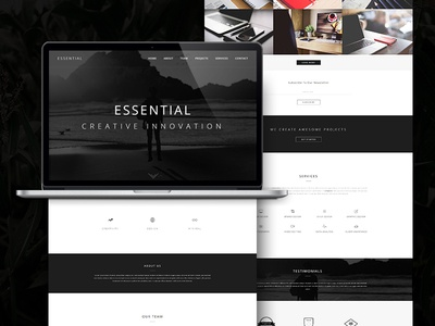 Essential - Responsive Minimal One Page WordPress Theme