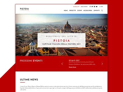 Pistoia 2017 - Homepage pistoia culture ui ux homepage concept design web website webdesign