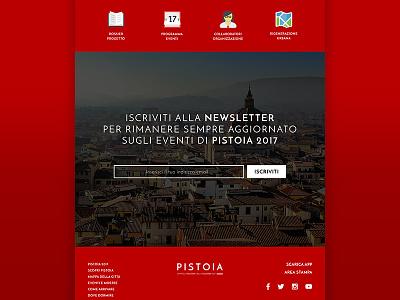 Pistoia 2017 - Page ux ui capital pistoia template concept design web website webdesign