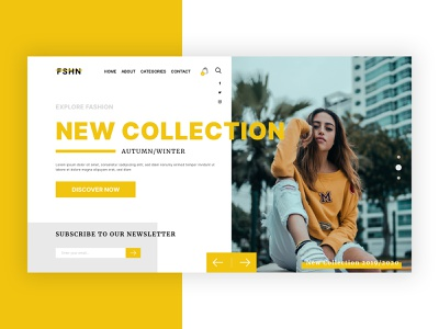 Fashion Website Concept store shop minimal interface clean modern yellow ecommerce design ecommerce fashion website fashion design fashion creative concept web ux ui design website webdesign