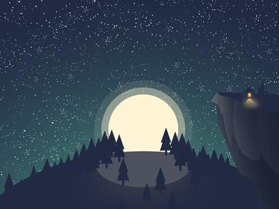 Stary Moonlit Night