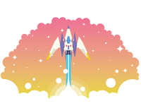 Fox McCloud R Wing Spaceship Takeoff