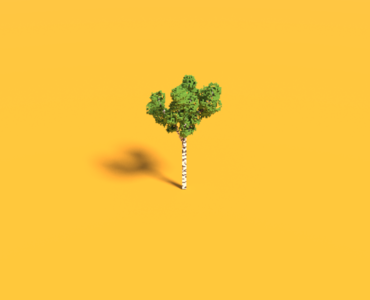 Voxel Birch Tree