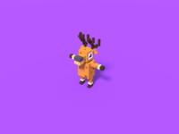 Simplistic Voxel Deer Character