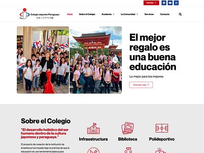 Website for Japanese Private School school web design school web private school web japanese school private school school website college website