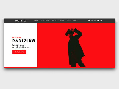 DJ/Producer Website musician dj music producer concept red