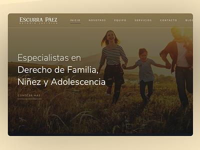 Escurra Páez / Law Firm - Estudio Jurídico - Website website layout estudio juridico law firm website law law firm website