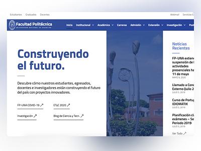 Facultad Politécnica - UNA | Website Redesign for Faculty faculty college website university website website redesign website college