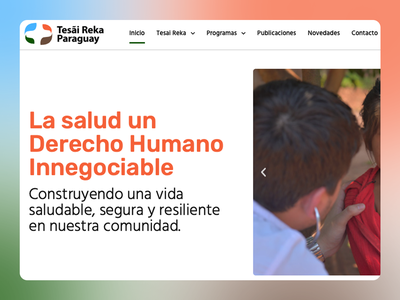 Tesai Reka Paraguay - Social Organization website design paraguay health association elementor wordpress website non-profit ong social website