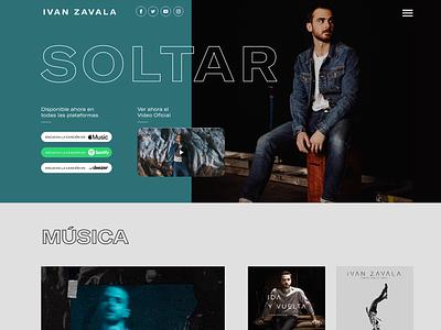 Website for Pop Musician uxdesign music app musician uidesign ux ui design elementor website music
