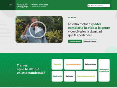 Institutional Management Report for the Foundation paraguay elementor wordpress ui foundation anual report non gubernamental ong
