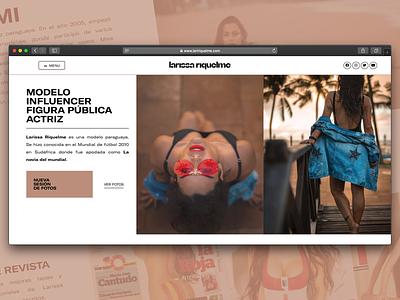 Website Design for Professional Model (Portfolio + Bio) website design portfolio model web web design website web