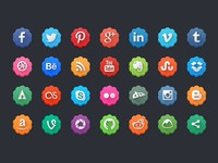 Free modern social media icon pack flowers