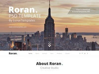Roran, the free One Page PSD Website Template