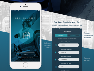 Deal Manager car mobile android ios